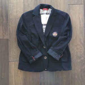 Abercrombie & Fitch New York Pinstripe Navy Blazer